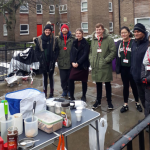 Volunteers helping with the Breakfast Kitchen in Liverpool