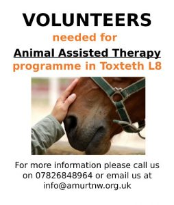 Volunteers needed for Animal Assisted Therapy