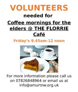 volunteers needed for Friday coffee mornings